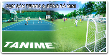 Cum san Tennis - bong da mini 3-3-1